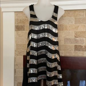Fab'rik black and silver sequin tank